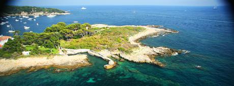 Location de bateaux itinairaire Cannes, les îles de Lérins, Mandelieu